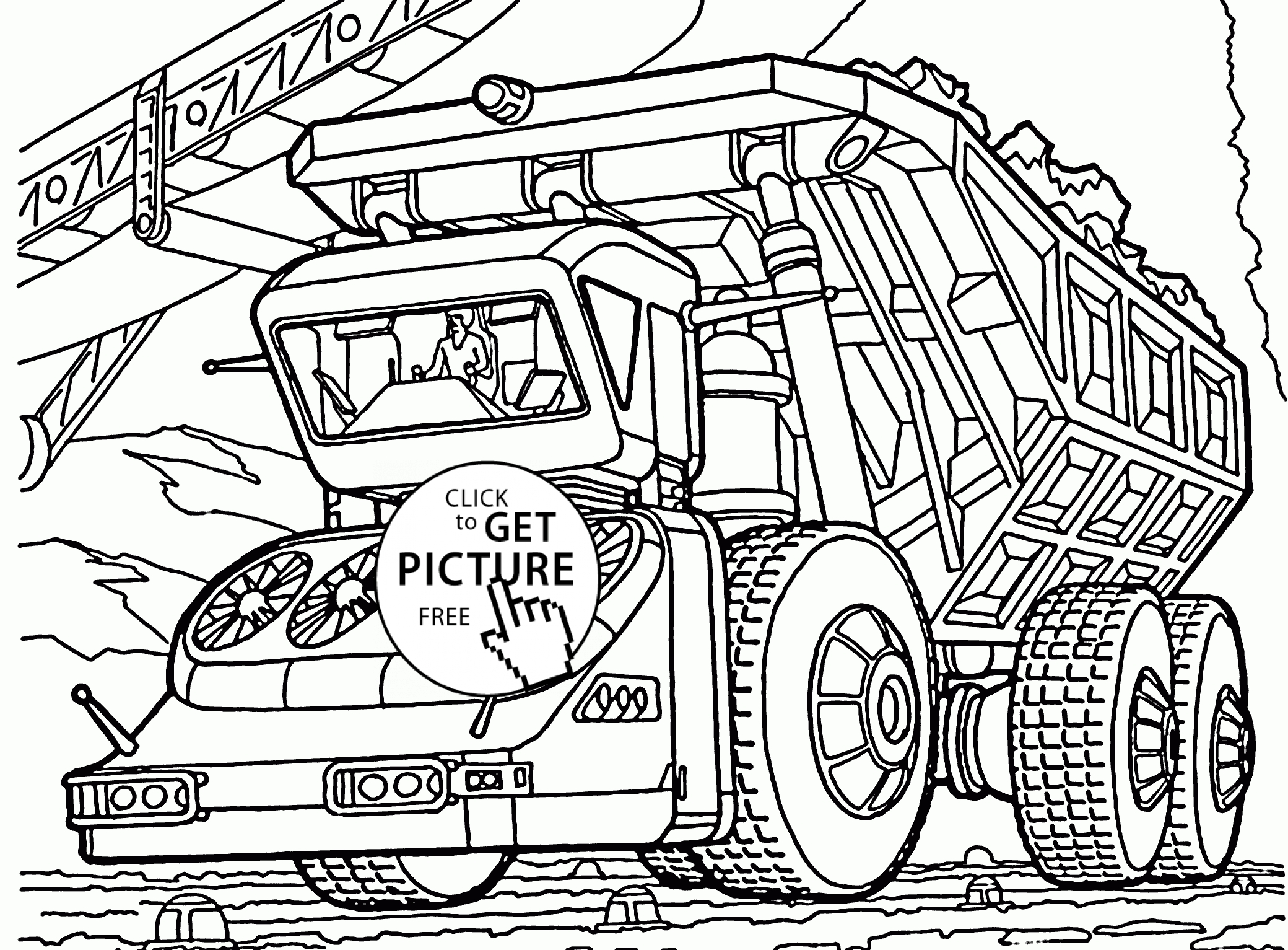 dump truck coloring pages - biggest dump truck coloring page for kids transportation coloring pages printables free