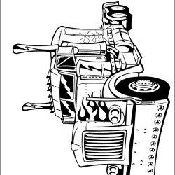 e coloring pages - transformers