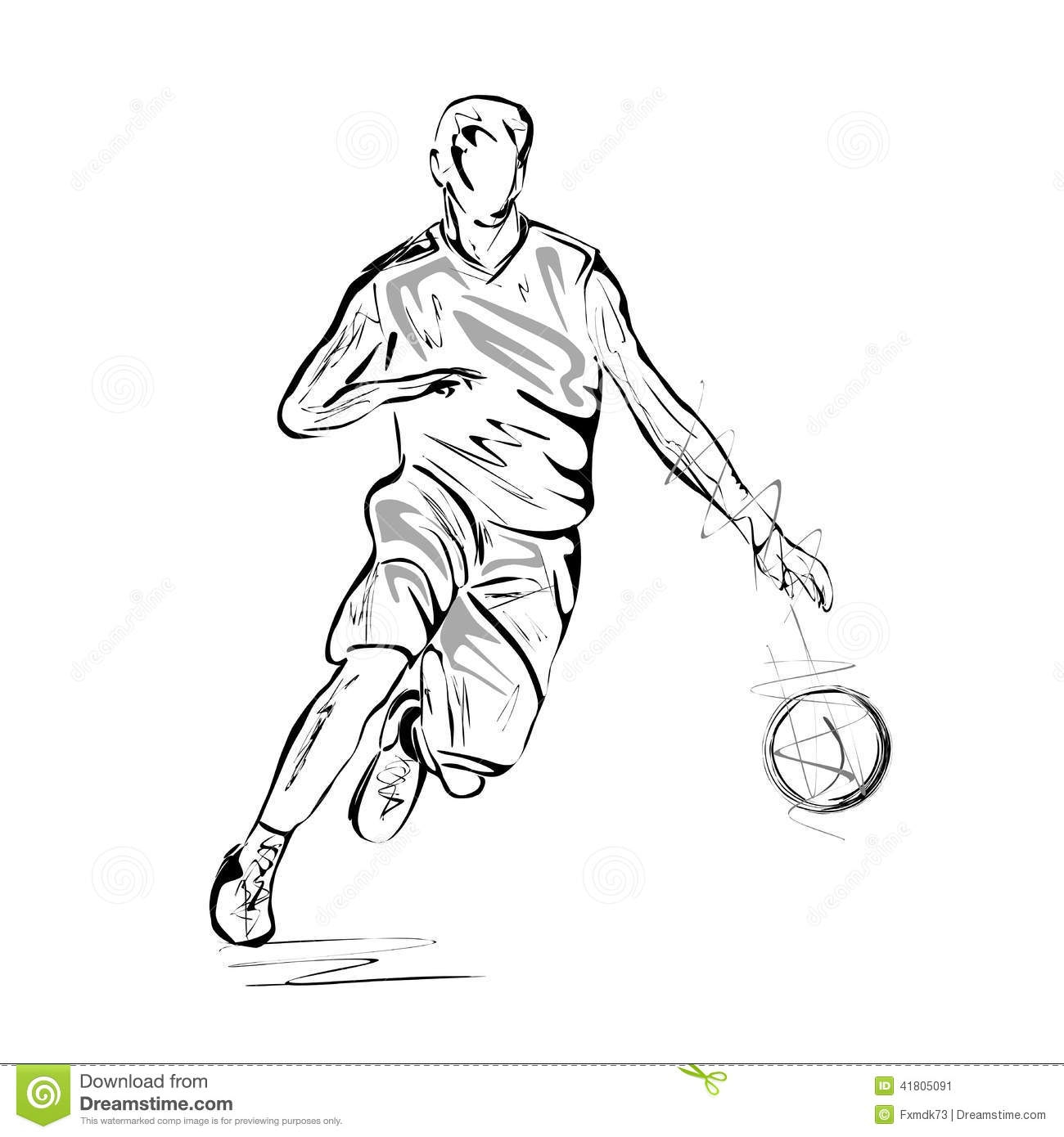 eagle coloring pages - stock illustration basketball player vector illustration sketch white background image
