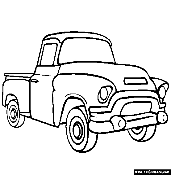 eagle coloring pages - old pick up truck coloring pages printable coloring pages