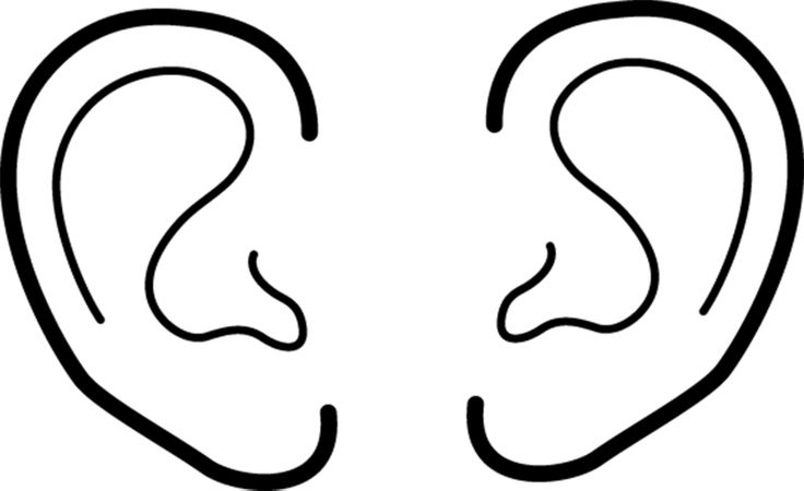 ear coloring page - ears coloring pages