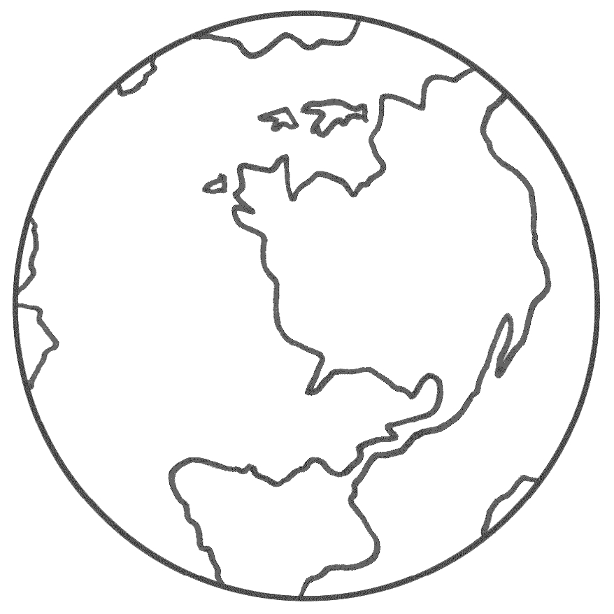 earth coloring pages - earth color pages
