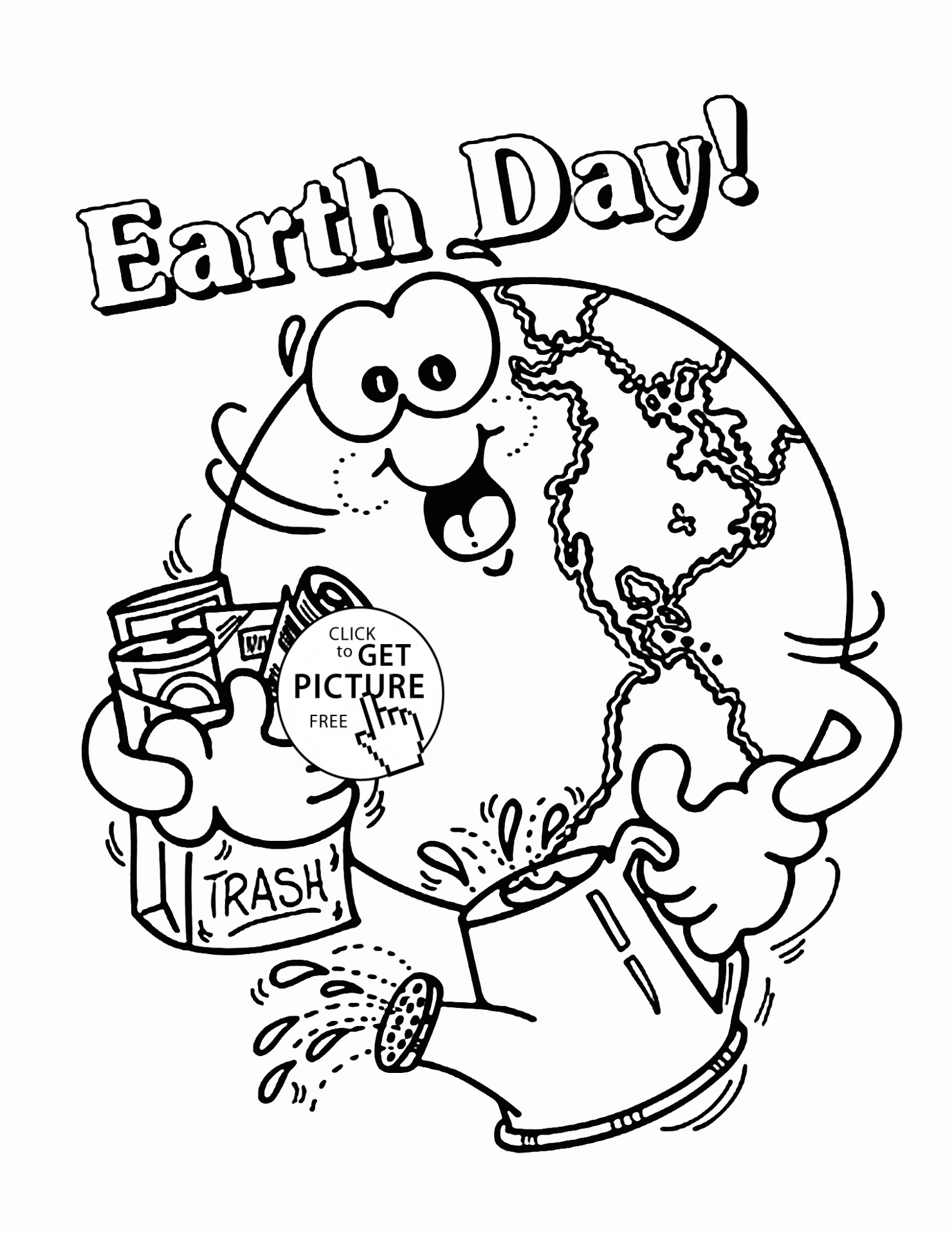 earth day coloring pages - happy earth earth day coloring page for kids coloring pages printables free