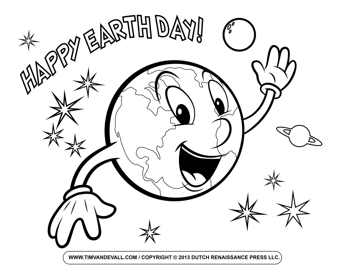 earth day coloring pages - earth day coloring page
