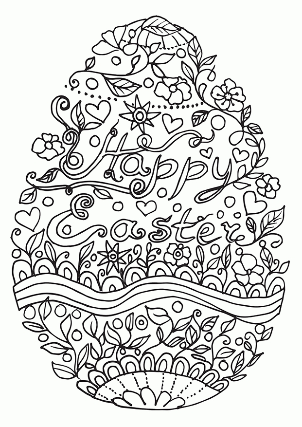easter adult coloring pages - easter coloring pages for adults