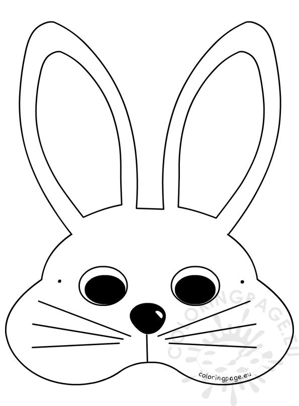 easter basket coloring pages - white easter bunny mask craft ideas