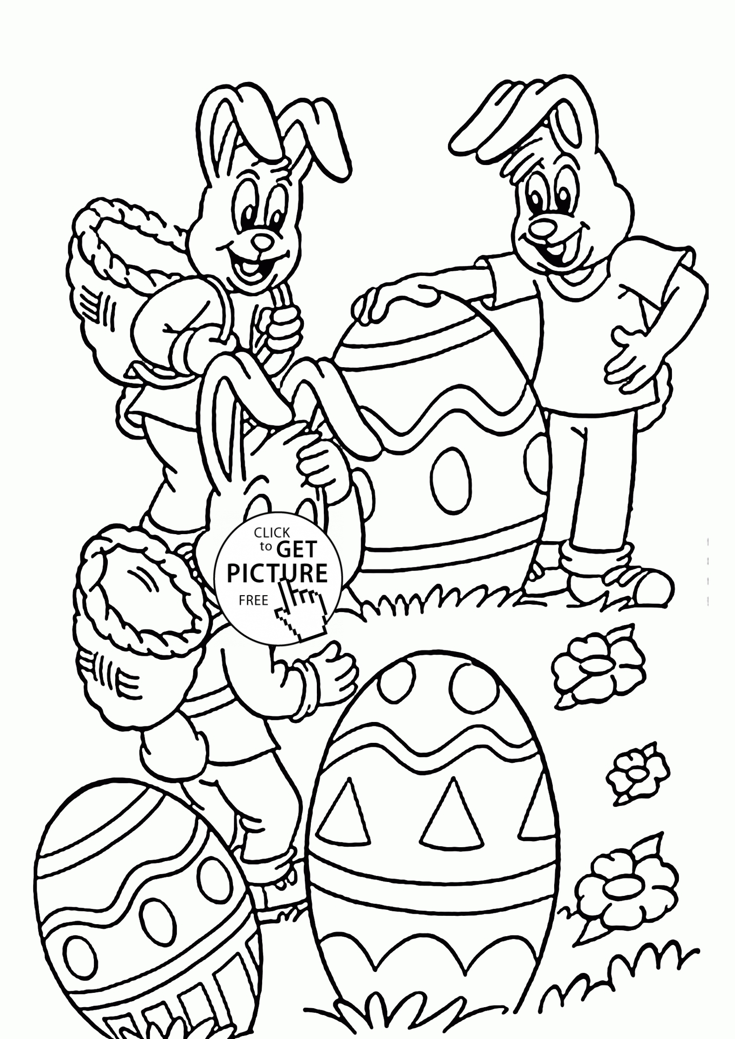 28 easter bunny coloring pages images - Free Coloring Pages Easter Bunny 2