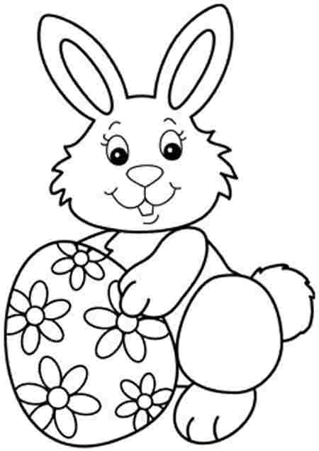 Easter Bunny Coloring Pages - Printable Easter Eggs Coloring Pages