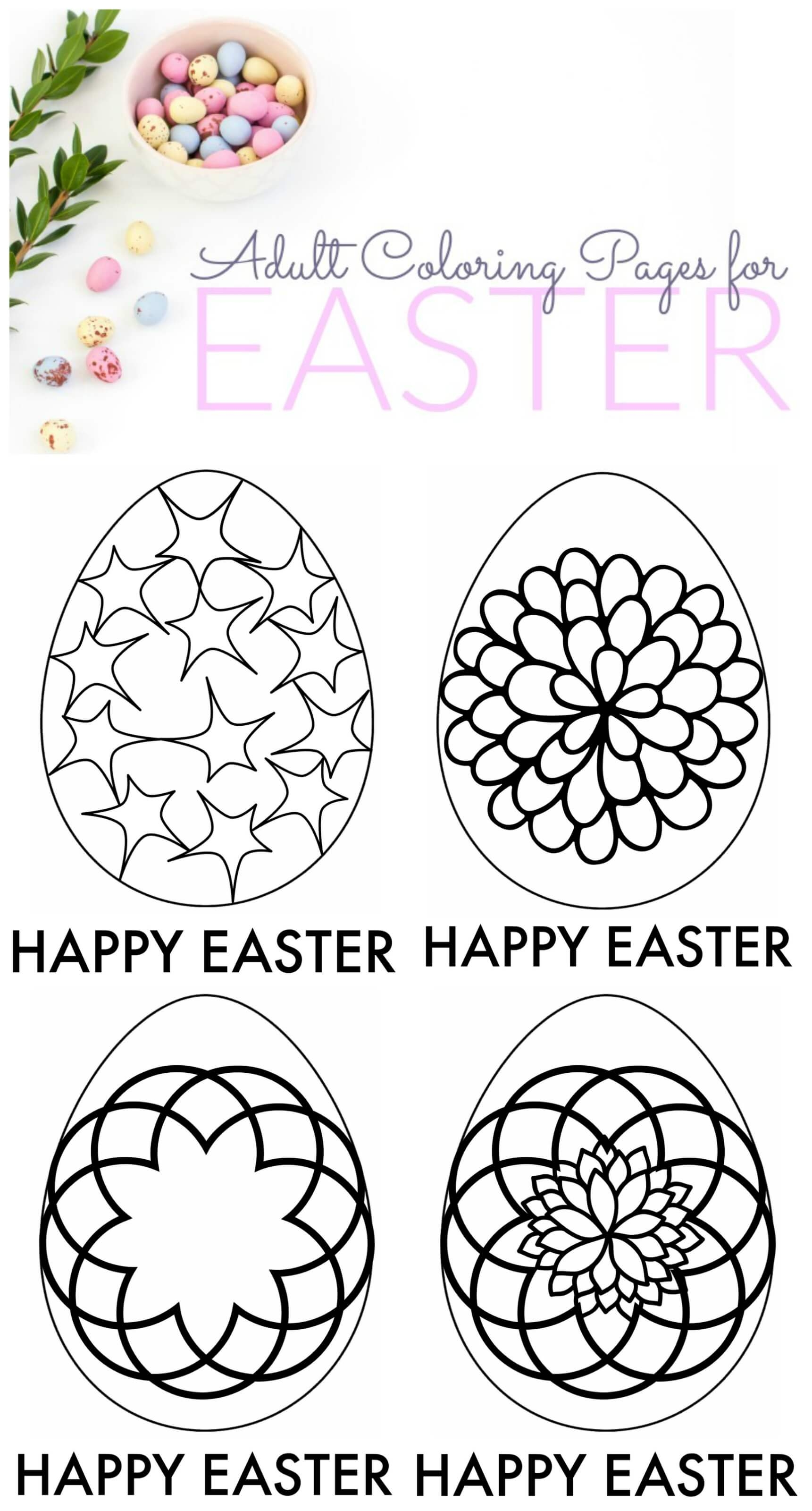 easter coloring pages for adults - easter adult coloring pages free printable s