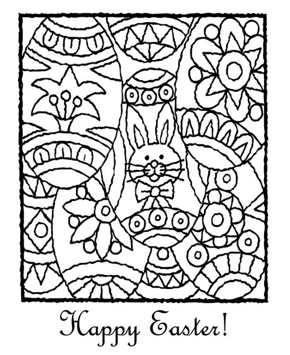 easter coloring pages for adults - easter holiday coloring pages for kids