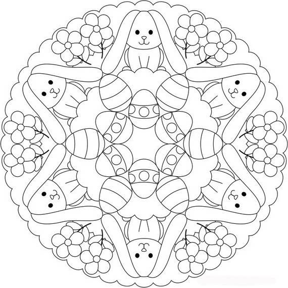 easter coloring pages for adults - unique spring easter holiday adult coloring pages designs