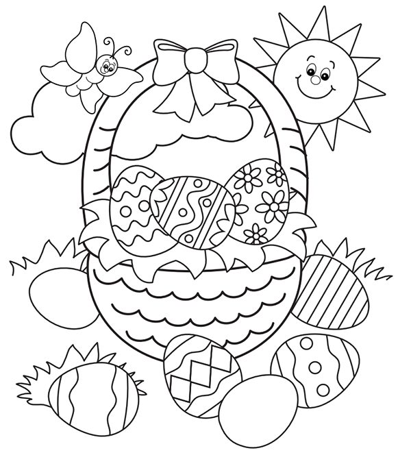 easter coloring pages free printable - free easter colouring pages