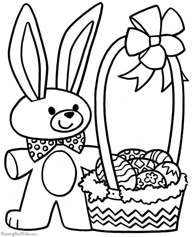 easter coloring pages free printable - 005 printable coloring pages