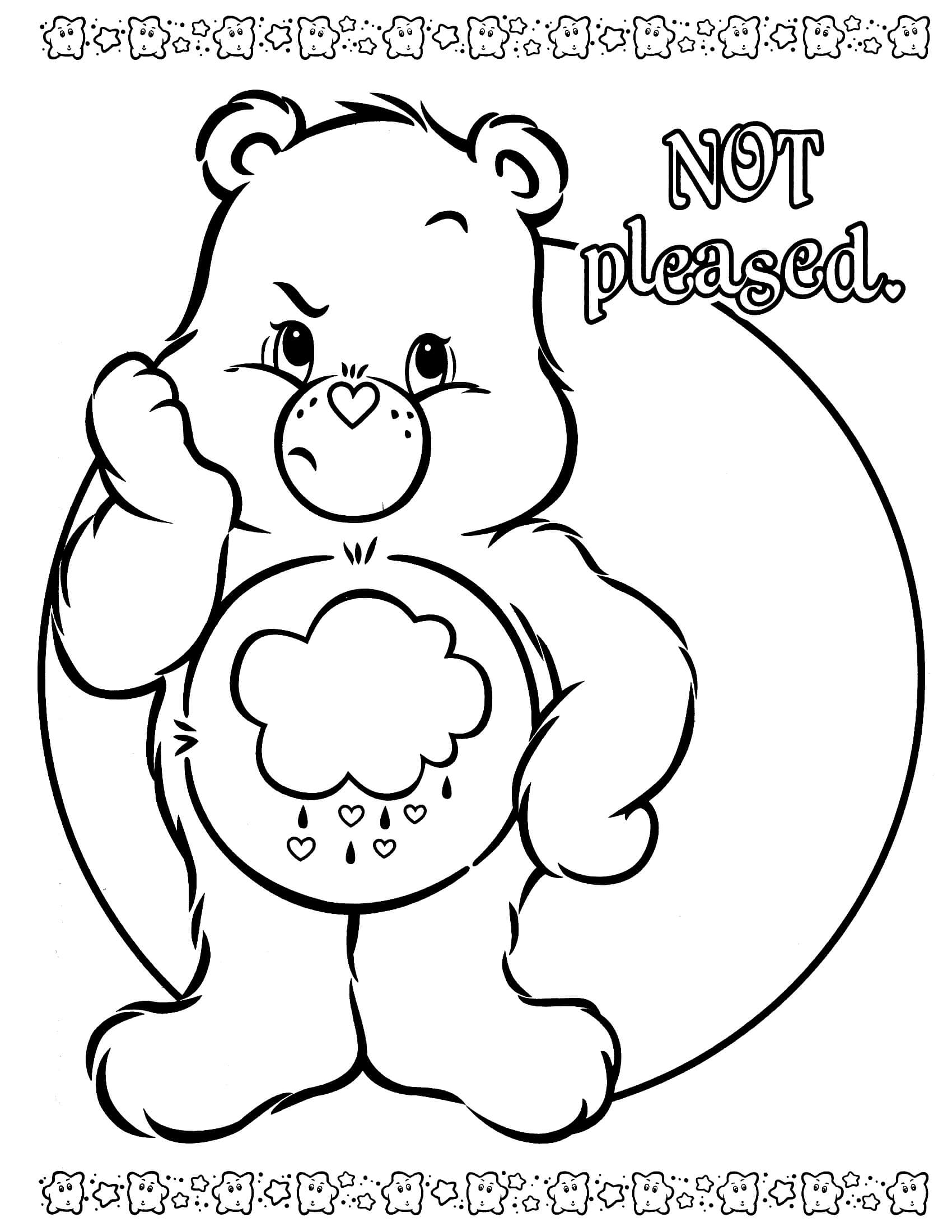 easter coloring pages to print - care bears coloring page 13