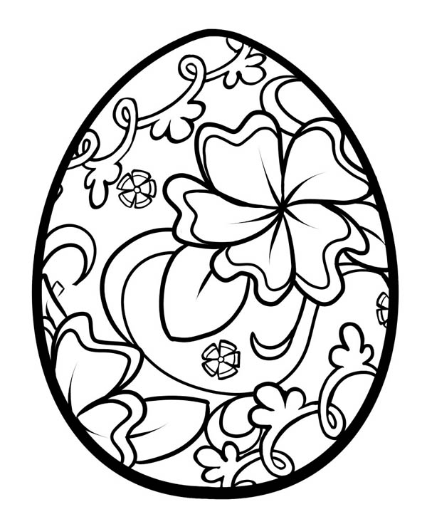 easter egg coloring pages - april coloring pages