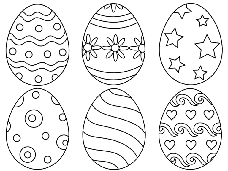 easter egg coloring pages - easter egg coloring pages