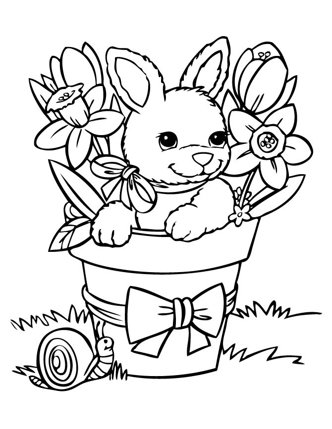 easter egg designs coloring pages - bunny coloring pages