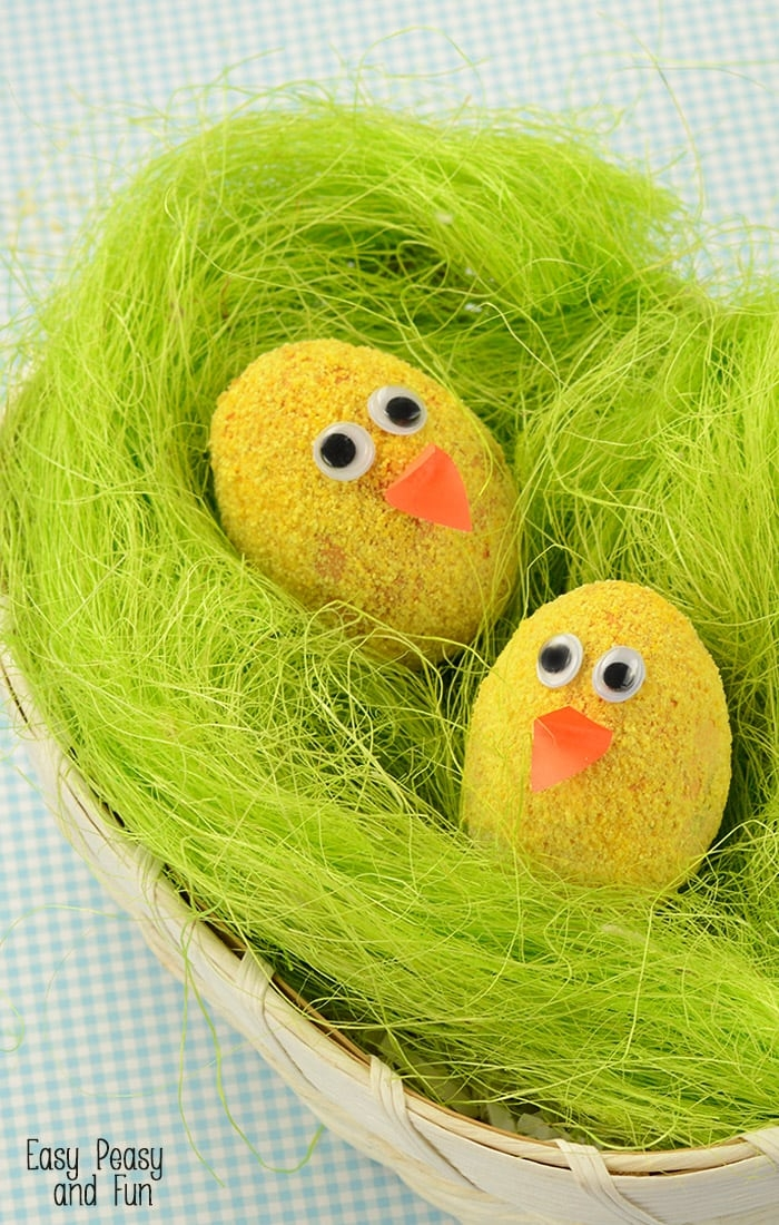 easter egg designs coloring pages - fuzzy chicks easter eggs decorating