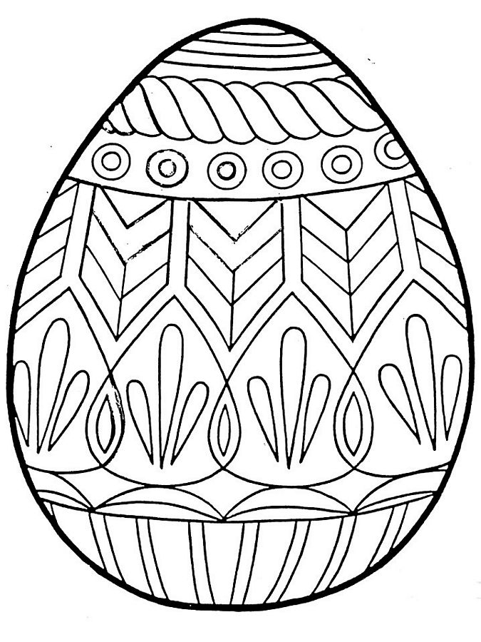 easter egg printable coloring pages - easter egg coloring pages