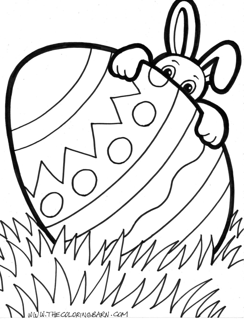 easter egg printable coloring pages - 472