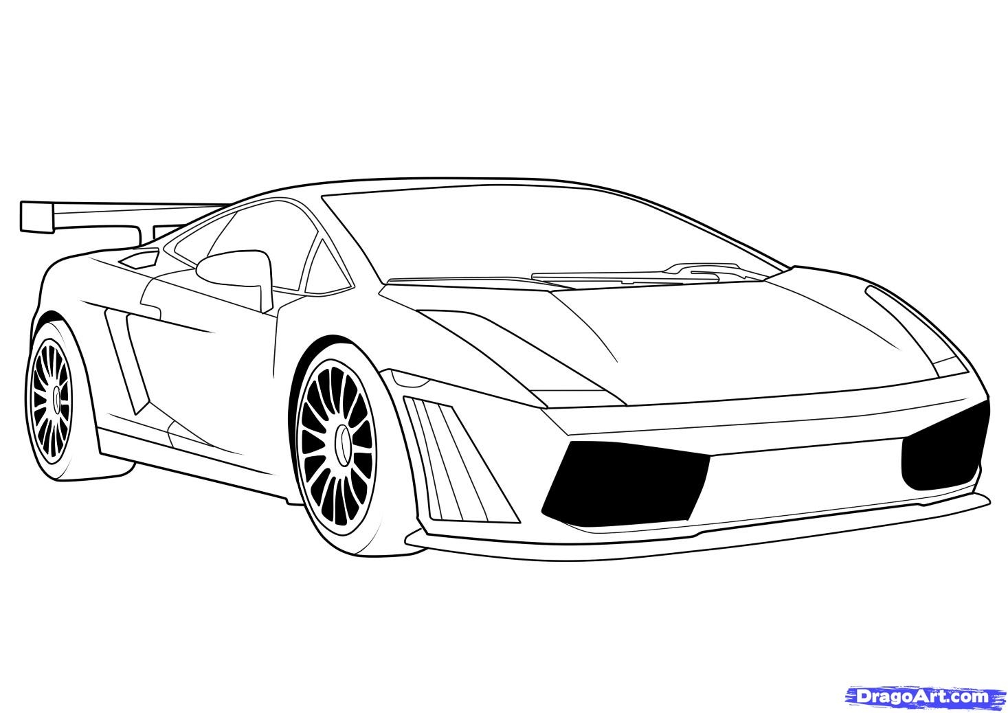 easy adult coloring pages - how to draw a lamborghini