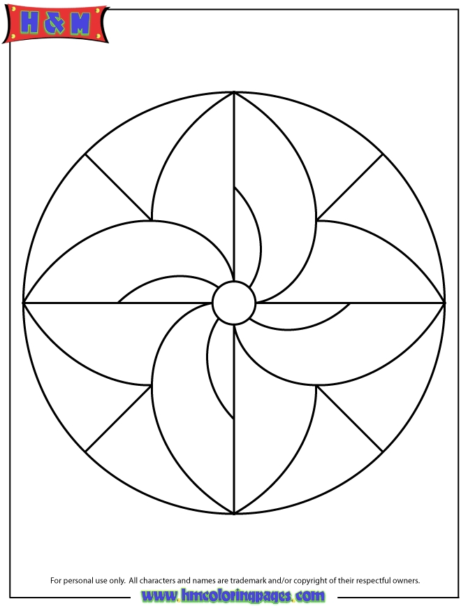 easy coloring pages - easy mandala for children