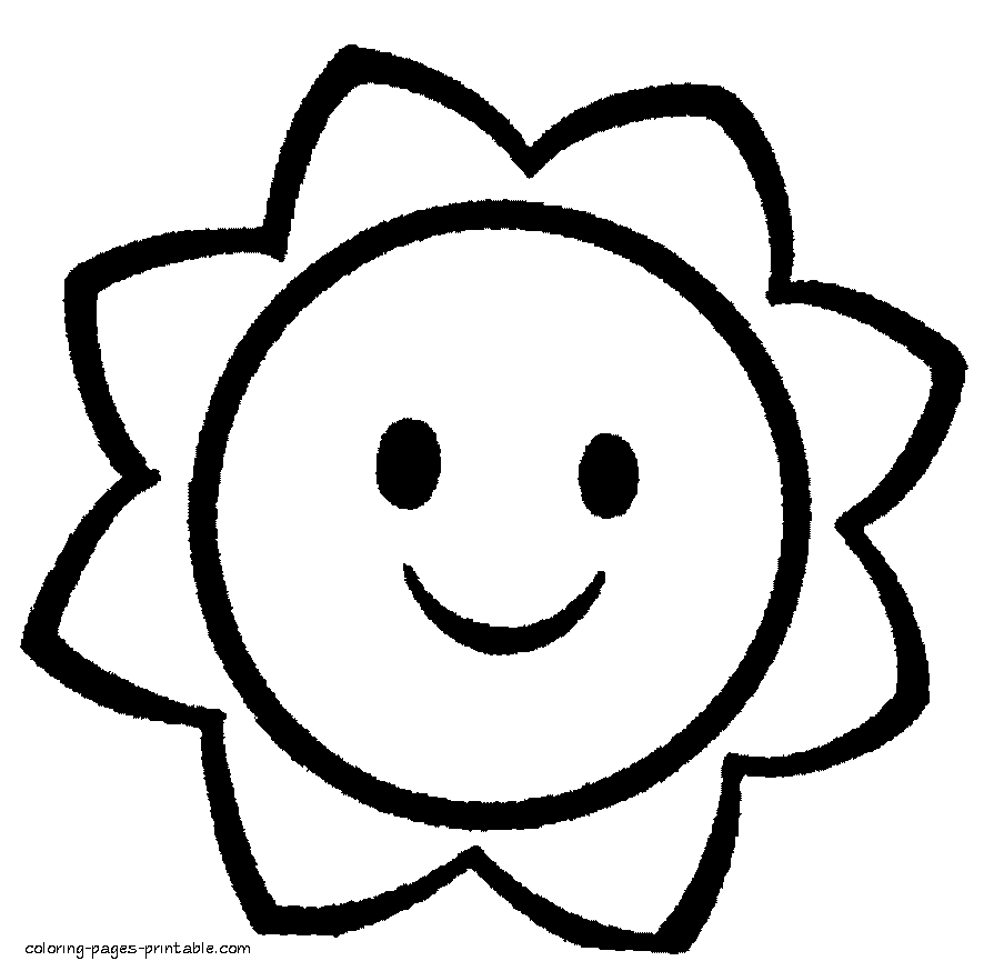 easy coloring pages - kindergarten coloring pages easy