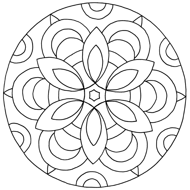 easy mandala coloring pages - man5037