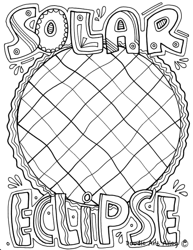 eclipse coloring pages - moon eclipse sketch templates