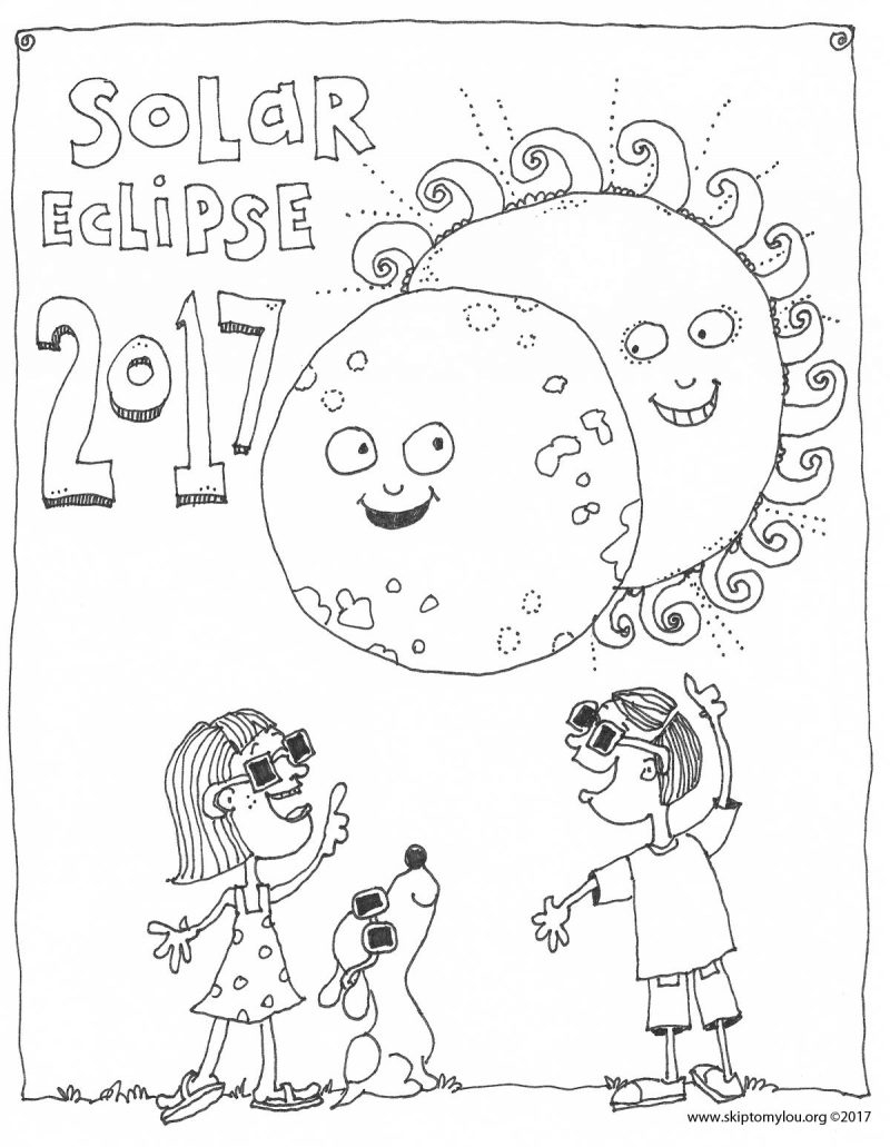 eclipse coloring pages - solar eclipse coloring page