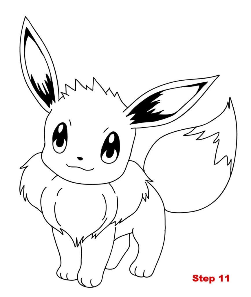 educational coloring pages - mon eevee colouring pages