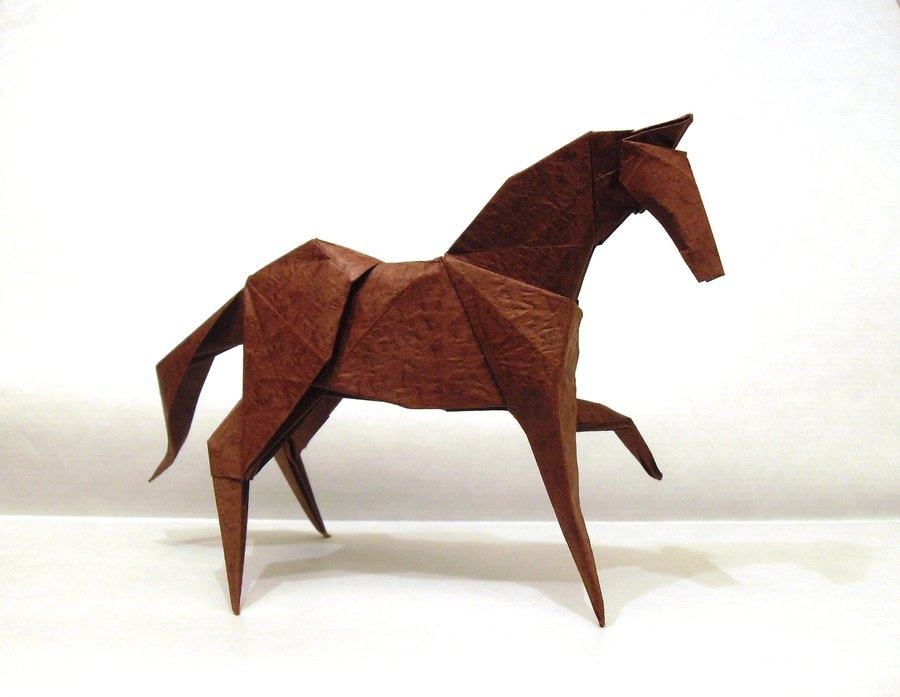 educational coloring pages - nth origami horse by orestigami on deviantart