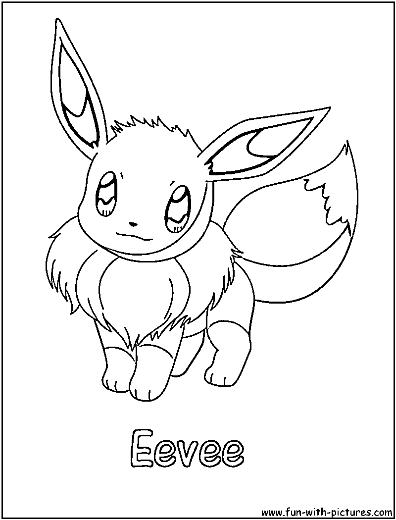 23 Eevee Coloring Pages Selection | FREE COLORING PAGES