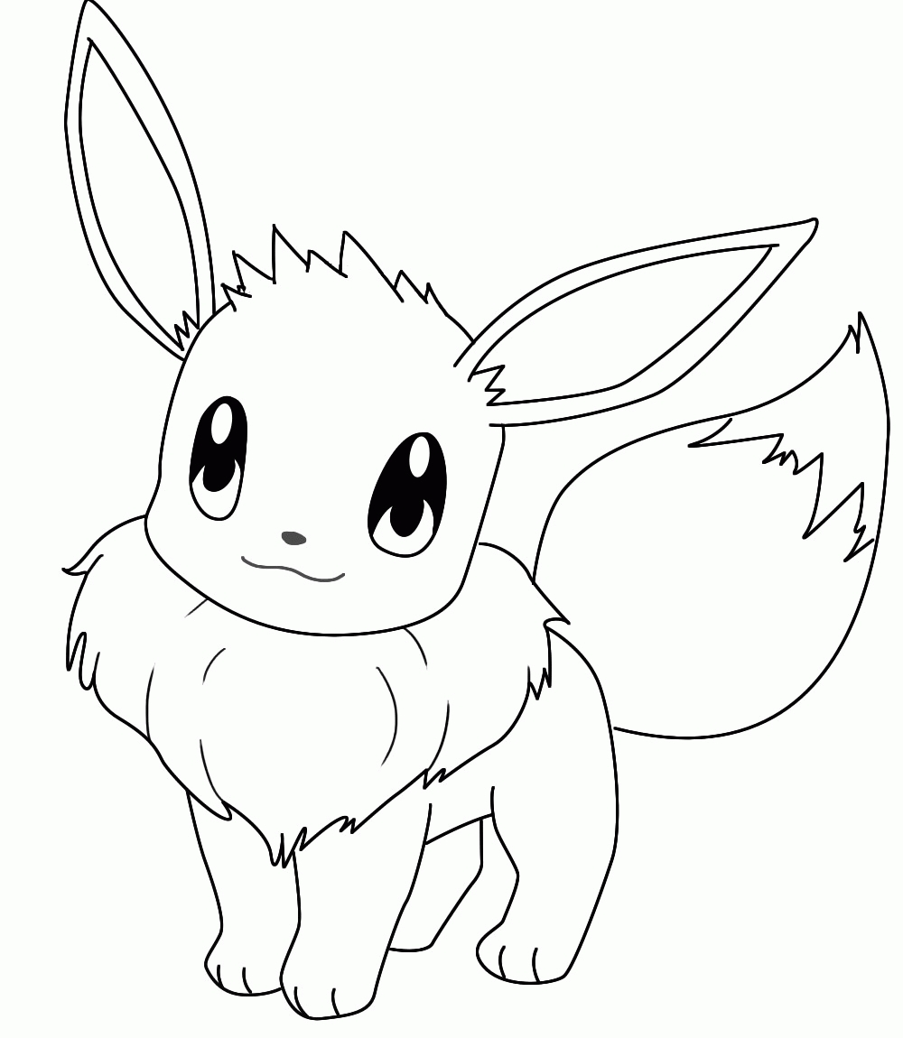 eevee coloring pages -