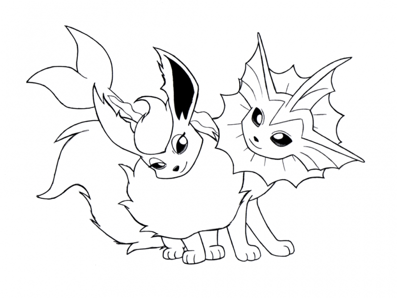 eevee evolutions coloring pages - eevee pokemon coloring pages