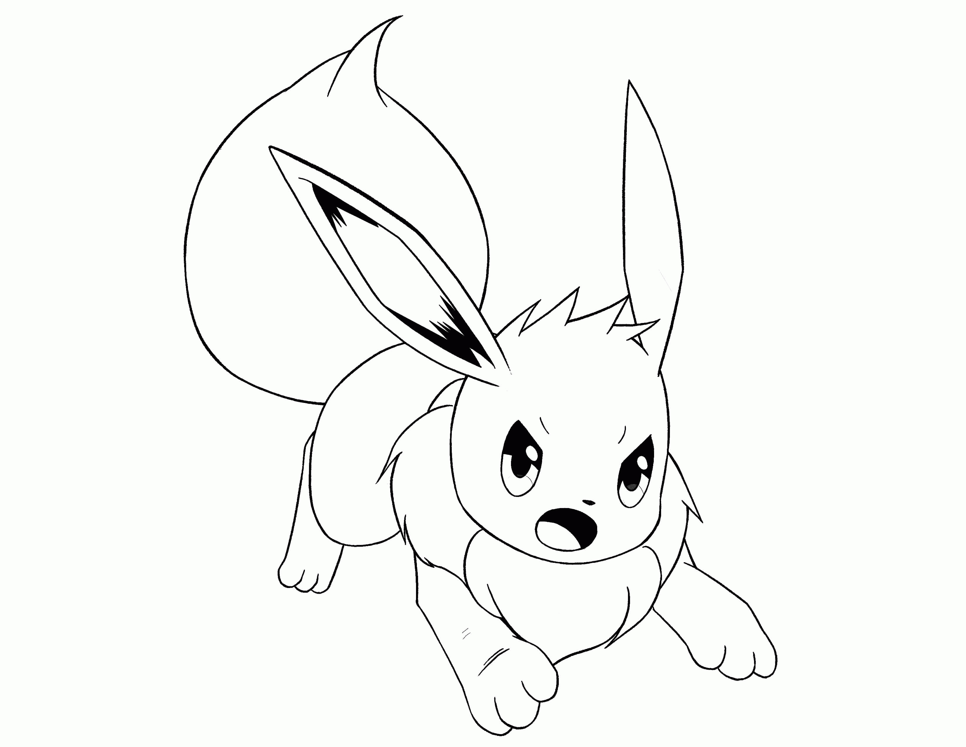Eevee Evolutions Coloring Pages
