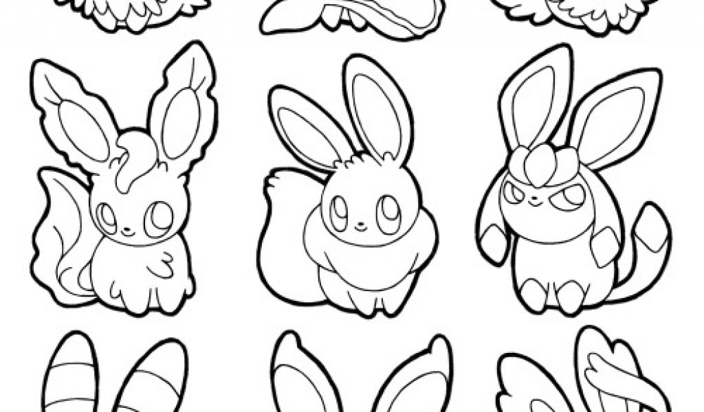 28 eevee evolutions coloring pages compilation free for Eevee coloring pages to print