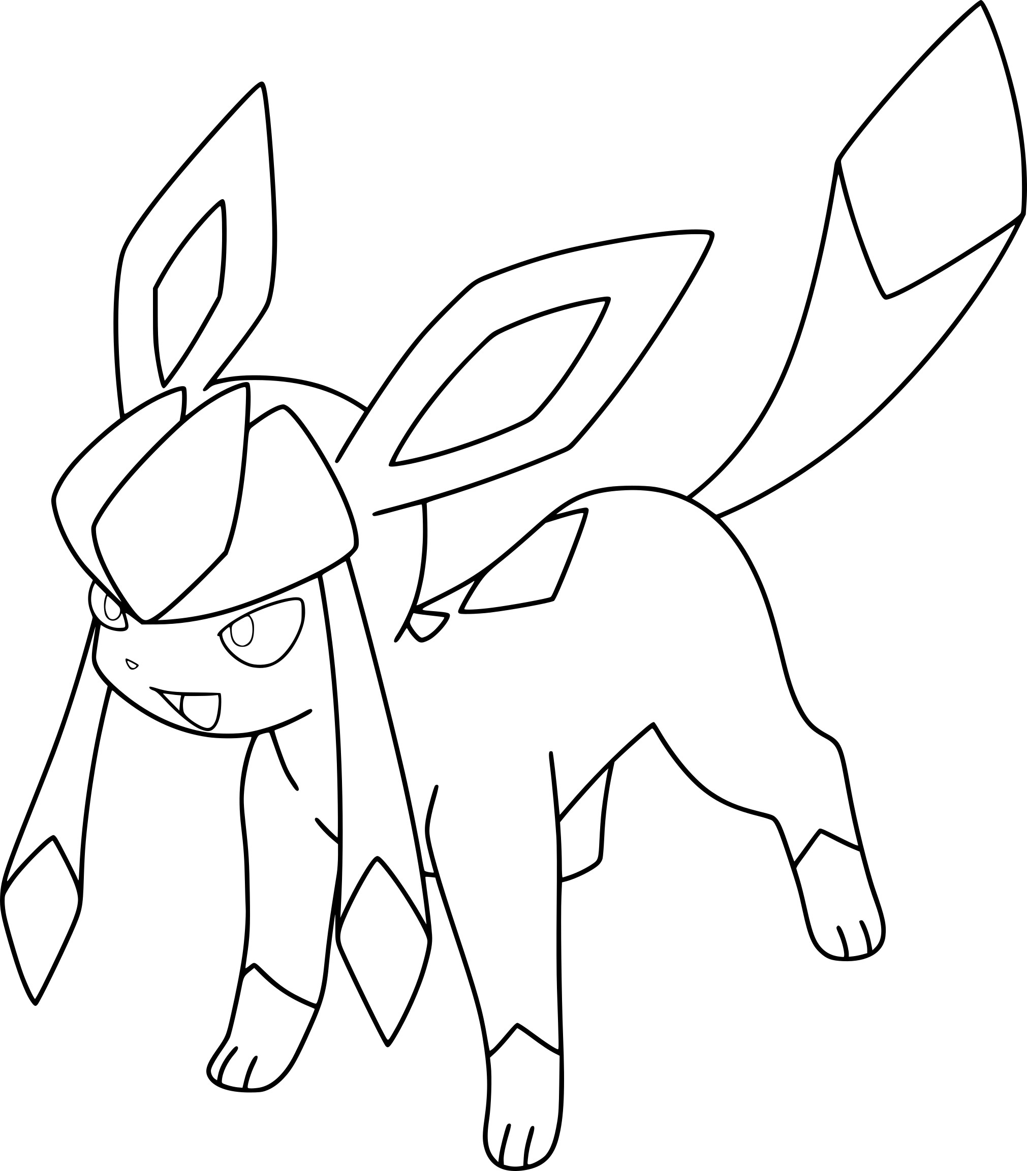eeveelutions coloring pages - coloriage givrali pokemon