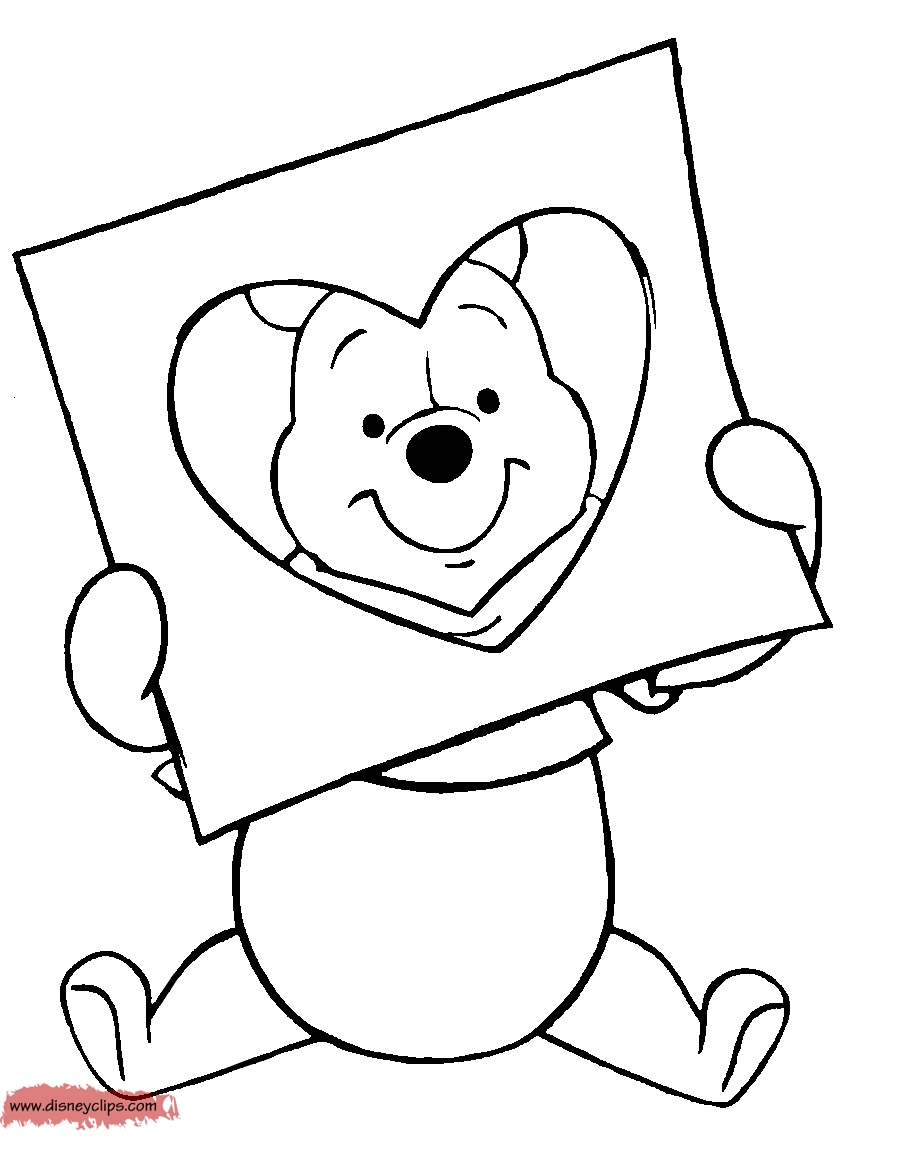 eeyore coloring pages - valentinecolor