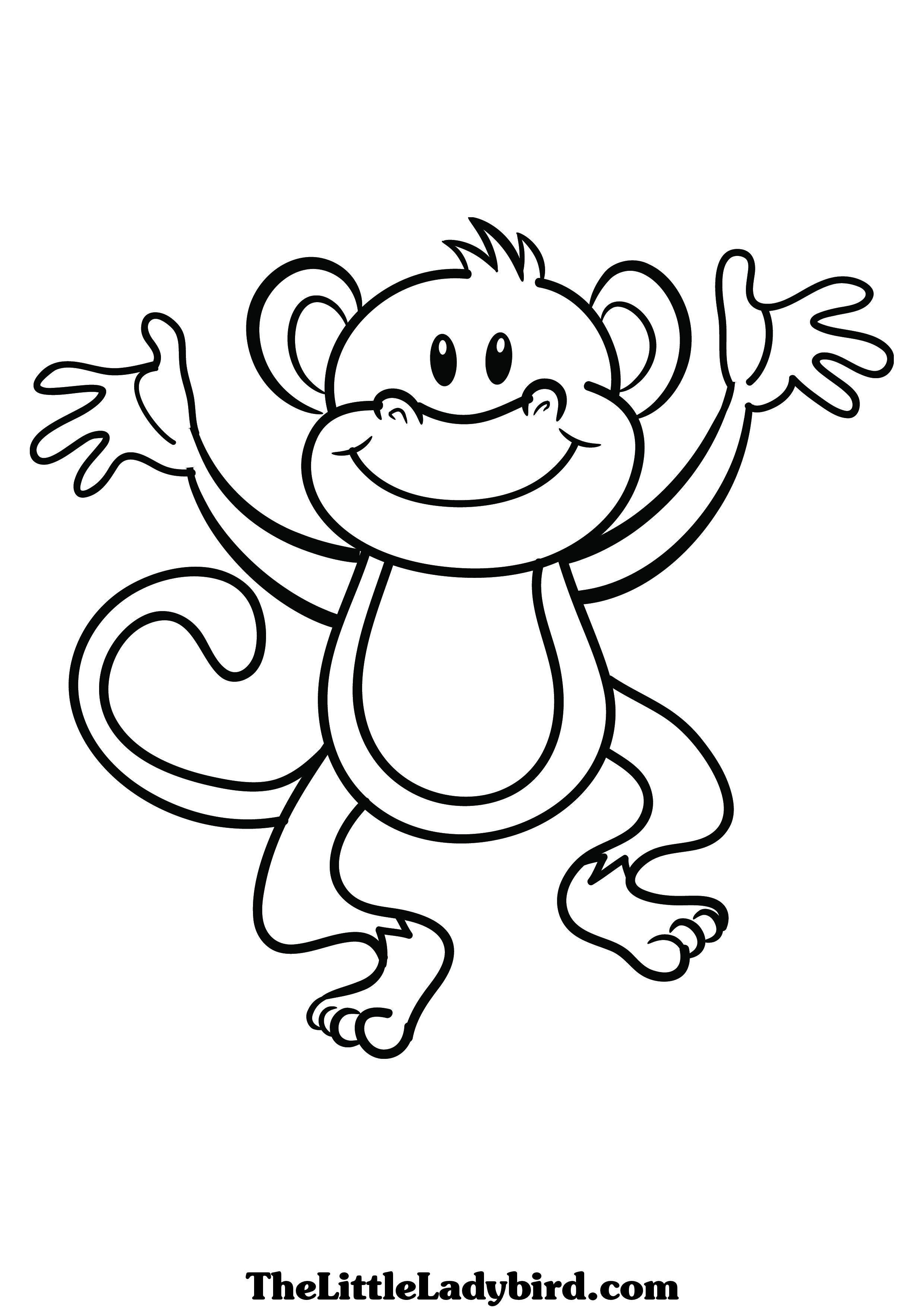 egg coloring page - monkey coloring page 1277