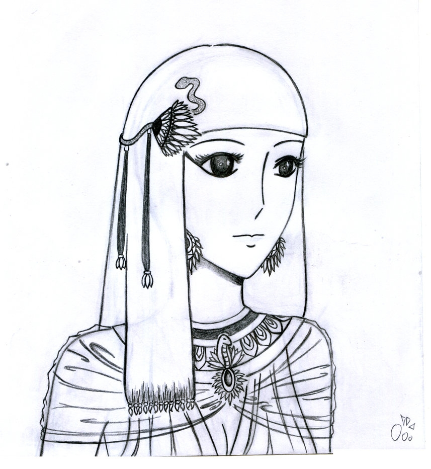 egyptian coloring pages - cleopatra