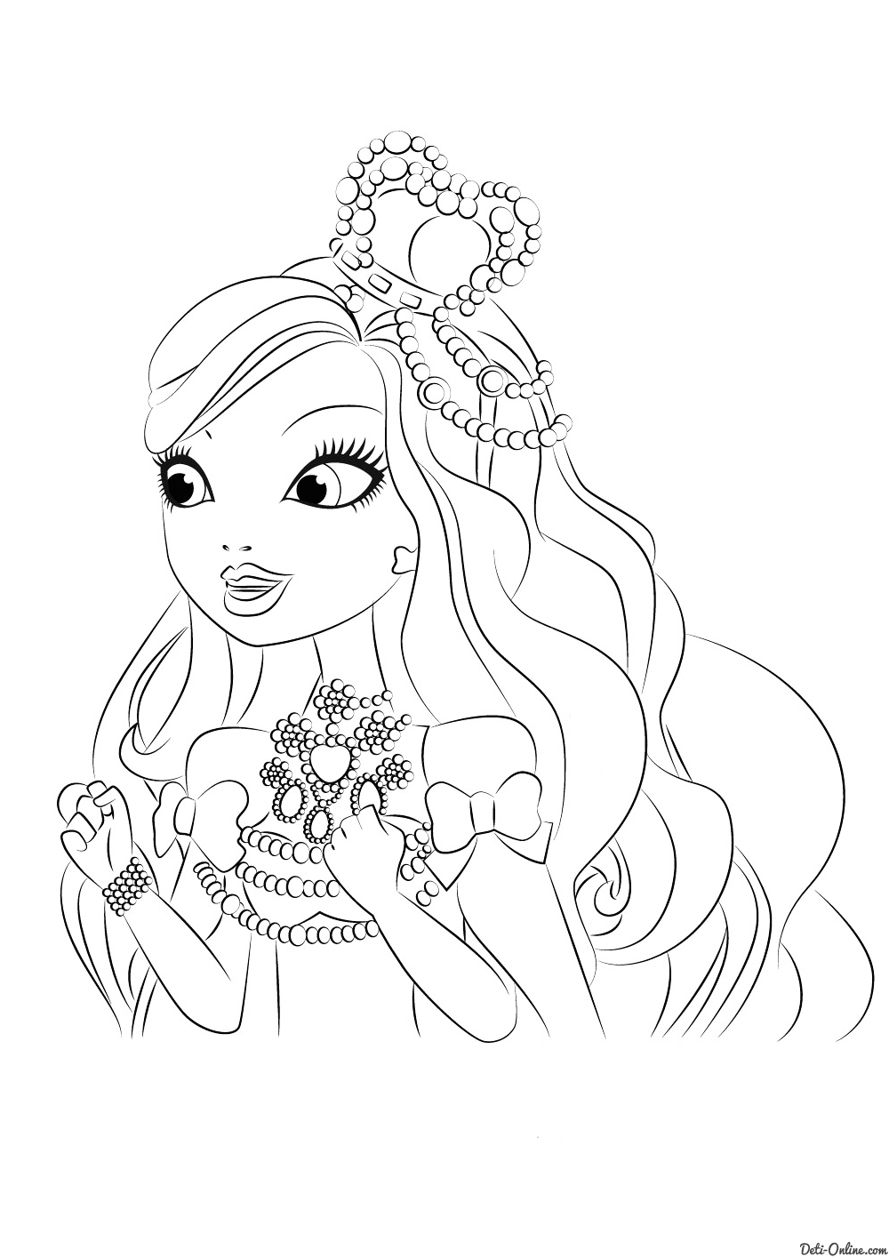 elena coloring pages - 2632