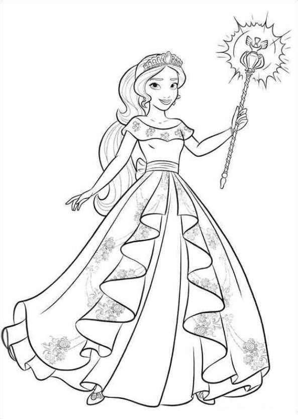 Elena Of Avalor Coloring Pages - Kids N Fun