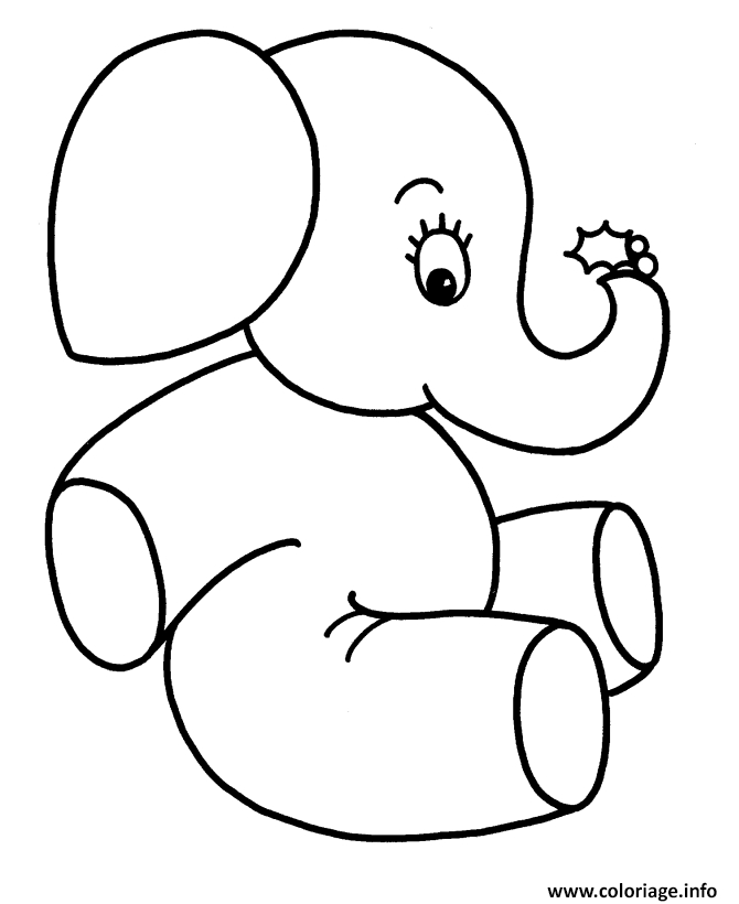 elephant adult coloring pages - elephant facile 114 coloriage