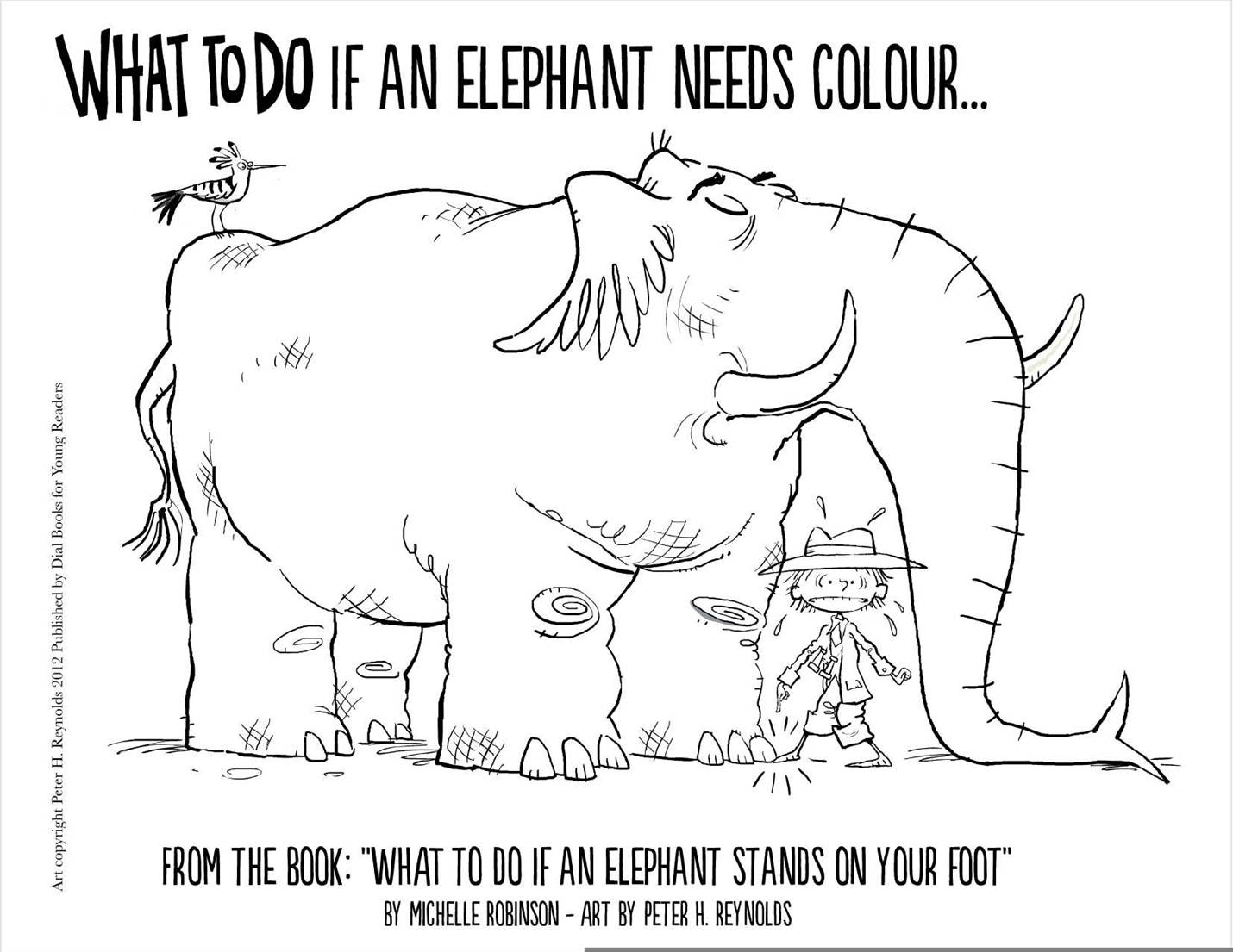 elephant and piggie coloring pages - colour