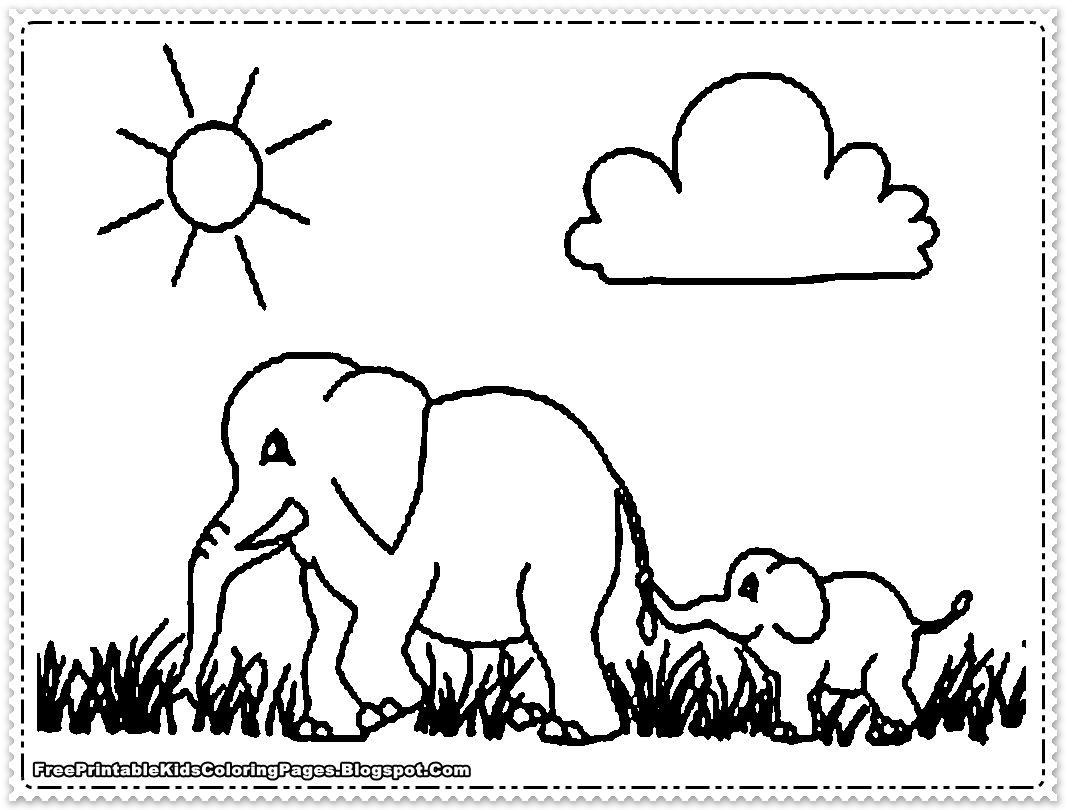 elephant coloring pages - elephant coloring pages printable