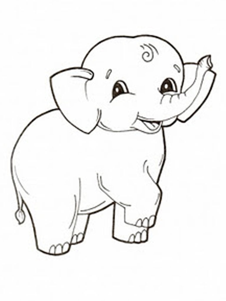 elephant coloring pages - elephant coloring pages