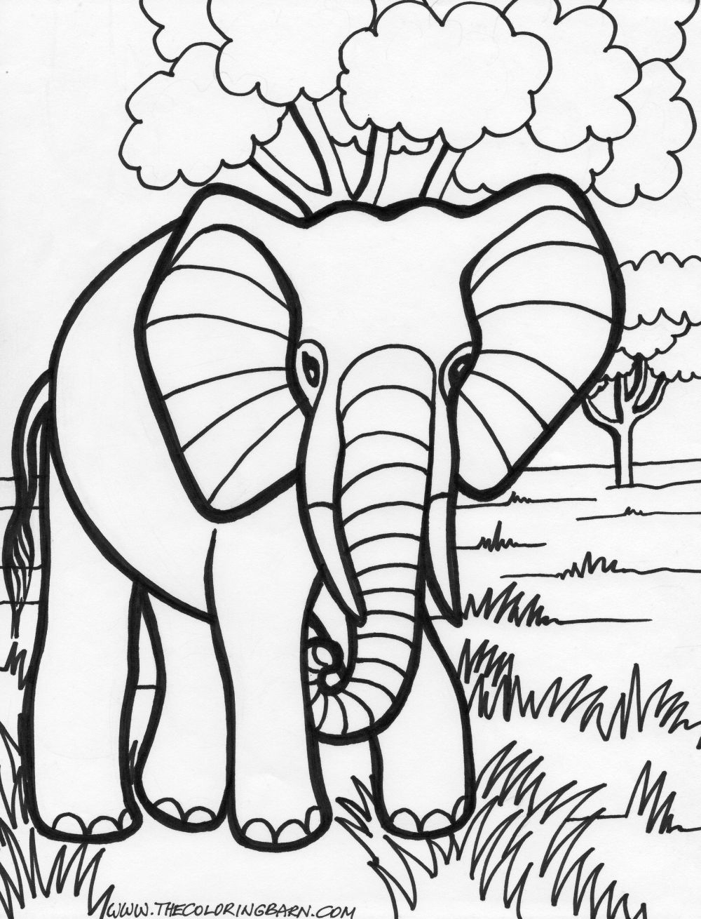 elephant coloring pages - 14 elephant coloring pages for kids