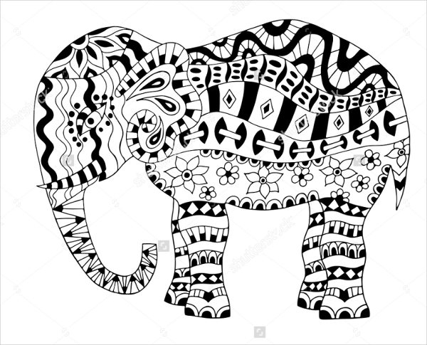 elephant coloring pages for adults - elephant coloring page