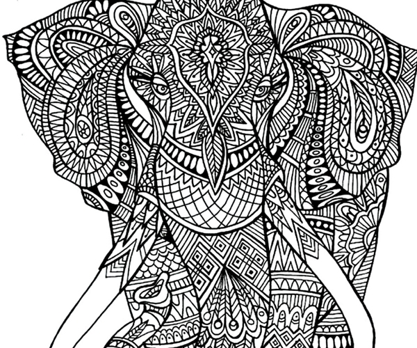 elephant coloring pages for adults - adult coloring pages elephant